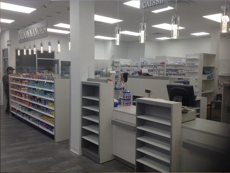 Aménagement intérieur de pharmacie à Mascouche - Pharmatec