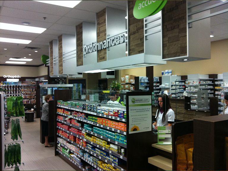 Aménagement intérieur de pharmacie à Pincourt - Pharmatec