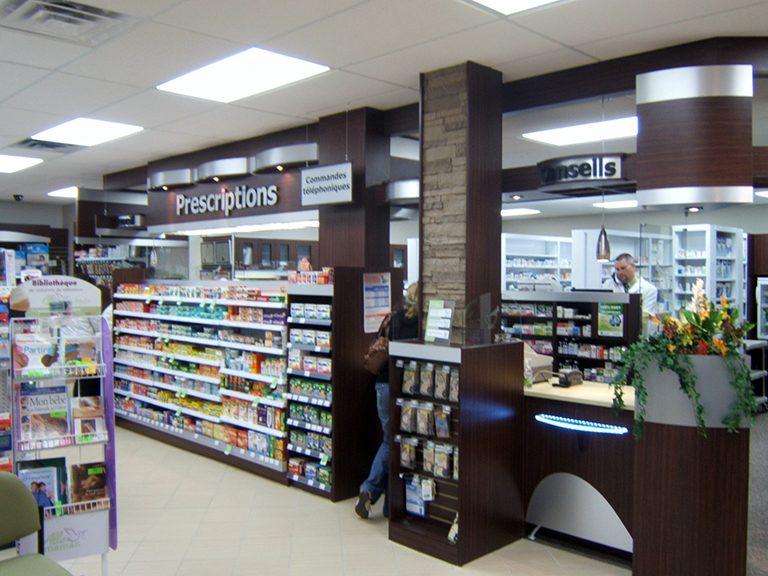 Conception et design de pharmacie à Pointe-Claire - Pharmatec